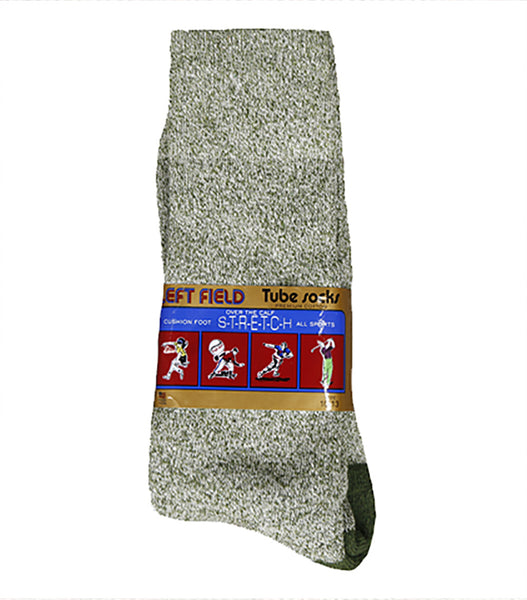 Green Melange Heather Socks - Left Field NYC