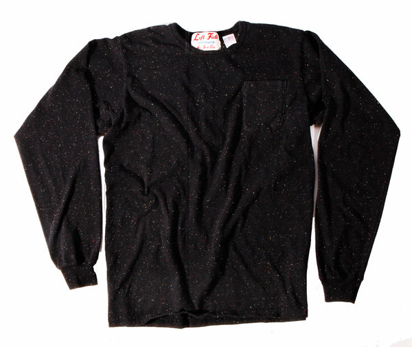 Long Sleeve Black Galaxy Pocket Tee ** size up a size ** - Left Field NYC