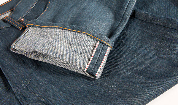 Seconds Nihon Menpu Natural Hank dyed Indigo denim,  15.5 oz 58% organic cotton/ 42% hemp - Left Field NYC