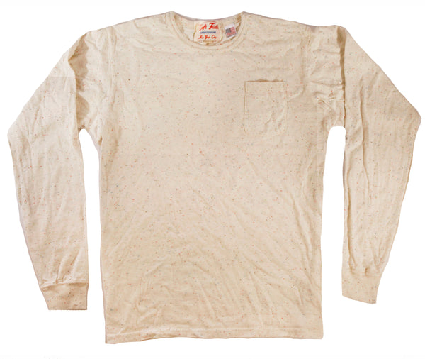Long Sleeve Confetti Nep Pocket Tee - Left Field NYC