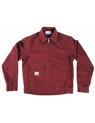 WORK UNIFORM Greaser Garage Jacket - Maroon 9 oz  Twill - Left Field NYC