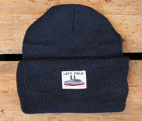Navy Wool Watch Cap - Left Field NYC