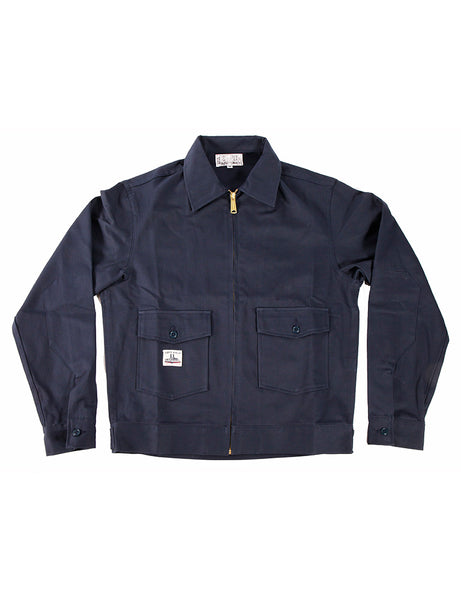 WORK UNIFORM Greaser Garage Jacket - Navy 9 oz Twill - Left Field NYC