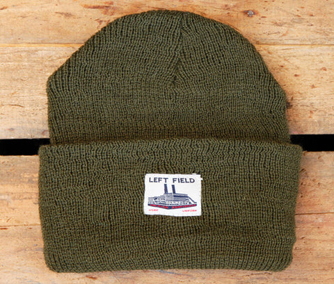 Olive Wool Watch Cap - Left Field NYC