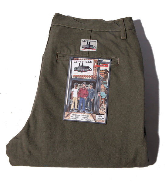 Olive Duck Work Uniform Chino ** Size down one in the Waist **