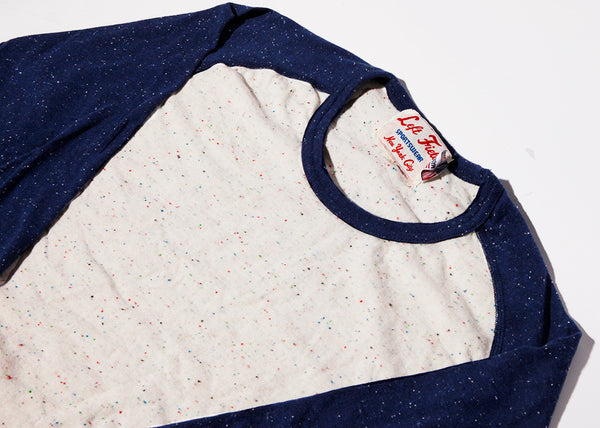 Confetti/Earth from Space Nep 3/4 sleeve Raglan Tee shirt - Left Field NYC
