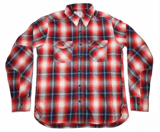 5 oz Red/White/Blue Plaid Dust Bowl Work Shirt - Left Field NYC