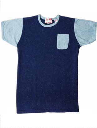 Blue Monday Crazy Ringer Pocket Tee - Left Field NYC