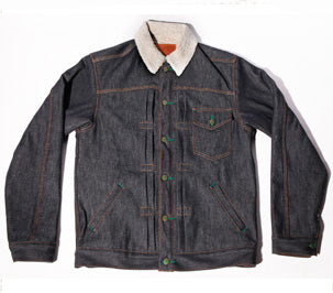 Pre Order 12/7 -Molly Maguire Vidalia Mill's Muleskinner Shearling Lined 14 oz Denim Jacket