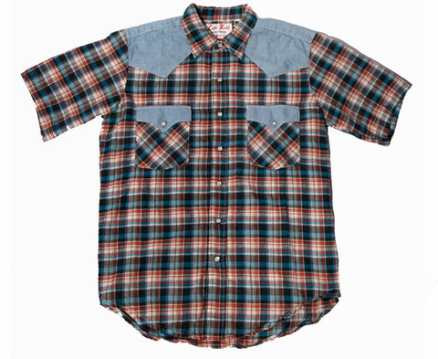 Bronco Billy Short Sleeve Western Madras Shirt