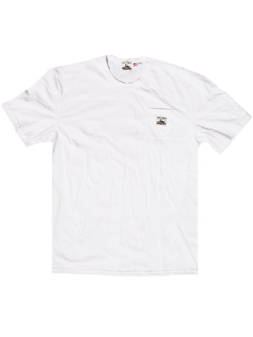 WHITE LF WORK UNIFORM POCKET TEE - Left Field NYC