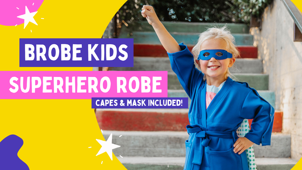 Superhero Robe For Children with Cancer, Children with Crohn's Disease, Childhood Cancer Gift, Childhood Cancer Product, Post surgical clothing for children, child's hospital robe, adaptive clothing for children