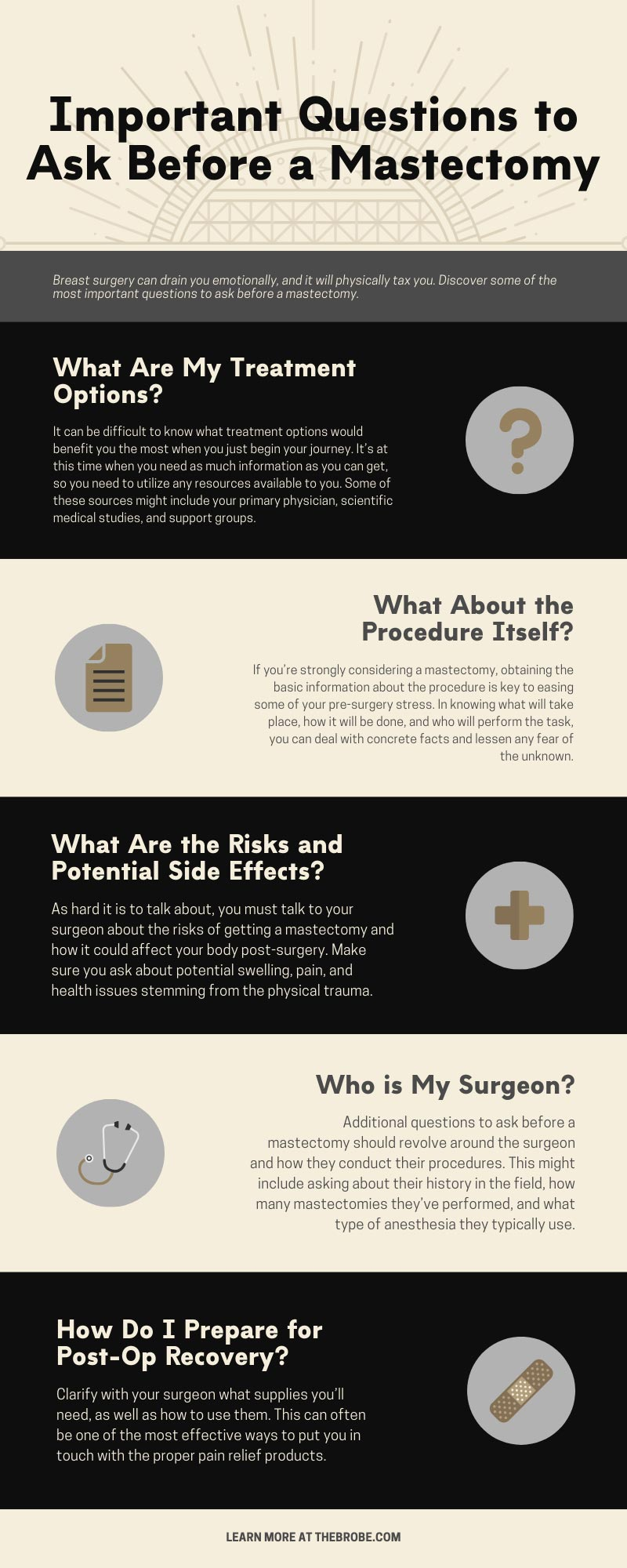 Important Questions to Ask Before a Mastectomy infographic
