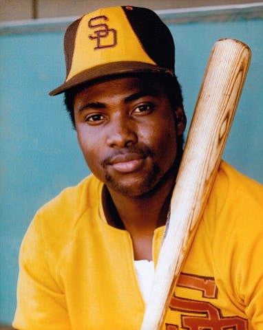 Tony Gwynn in the signature yellow and brown