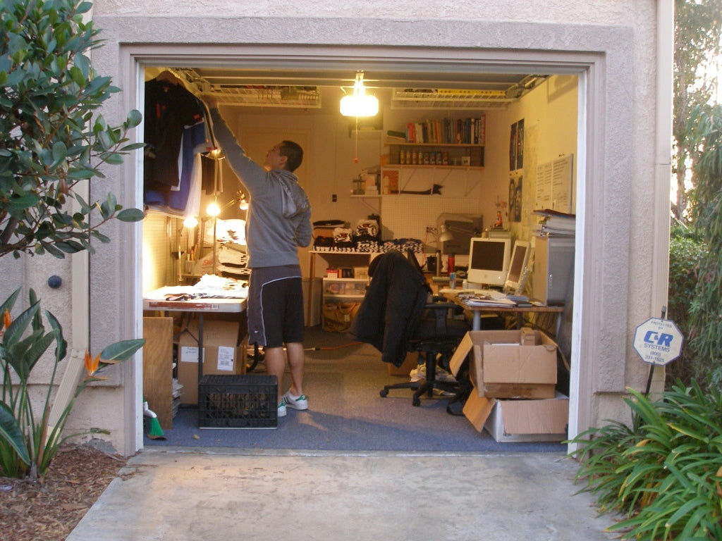 Tony in his garage a.k.a. Product Etc's first studio