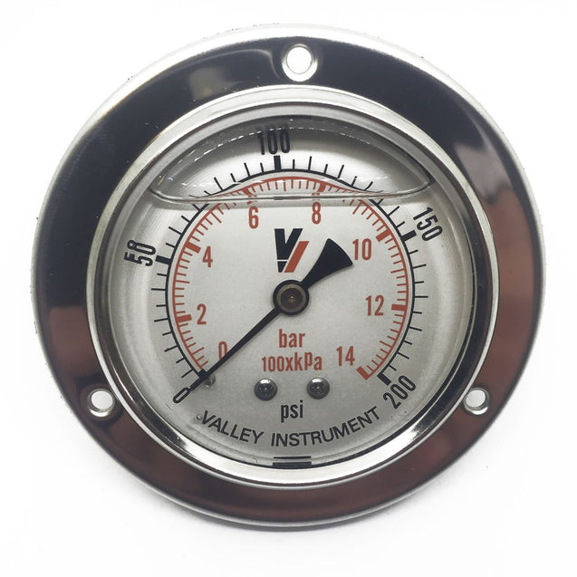200 PSI Face Mount Gauge
