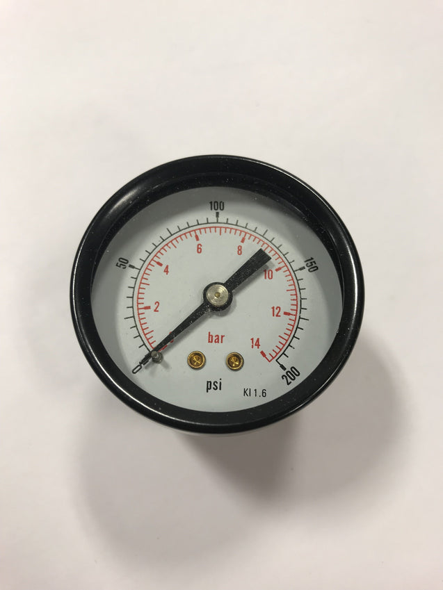 200 PSI Gauge for Machine Air Regulator