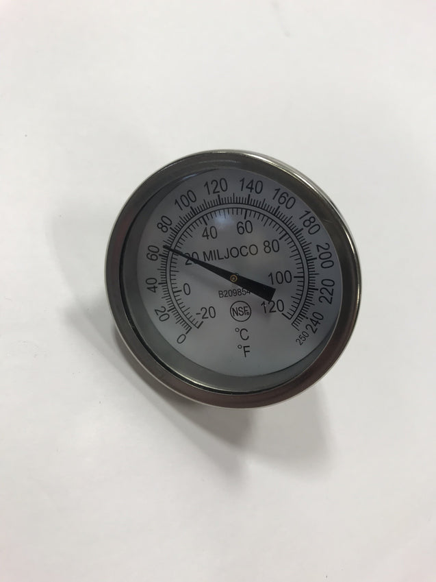 Supply Block Temperature Gauge 0-250 Degrees Fahrenheit