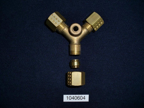 6mm Equal Y with Bulkhead Mount, 1040604