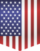 Flag of USA car sticker