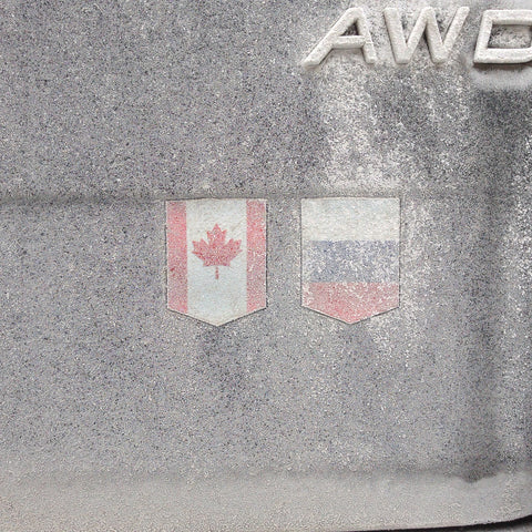 canada russia flag sticker winter