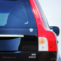 British Flag car sticker