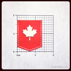 Canada Maple Leaf Flag car sticker dimensions