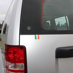 Flag of Ireland car sticker on a Jeep Liberty