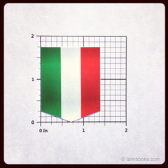 Flag of Italy vinyl car sticker dimensions