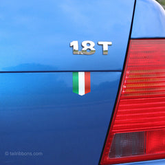 Flag of Italy car sticker on a VW Jetta