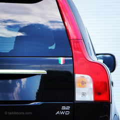 Flag of Italy car sticker on a Volvo XC90