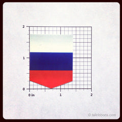 Flag of Russia car sticker dimensions
