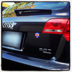 Flag of UK car sticker on an Audi