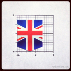Flag of United Kingdom car sticker dimensions