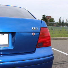 Flag of the United Kingdom car sticker on a VW Jetta