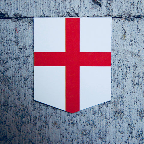 "Flag of England car sticker - 2"" x 2.5"""
