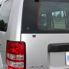 Flag of Russia car sticker on a Jeep Liberty
