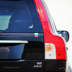 Russian car car sticker tailribbon on a Volvo XC90