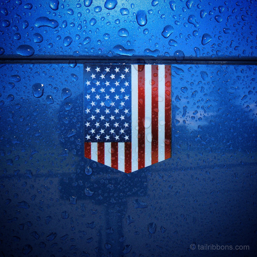 USA flag car sticker
