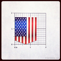 United States Flag car sticker dimensions