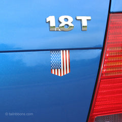 United States Flag car sticker on a VW