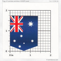 flag of australia car sticker dimensions