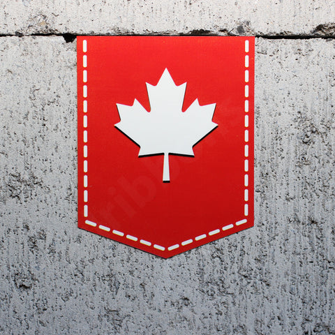 "Maple Leaf of Canada car sticker - 2"" x 2.5"""