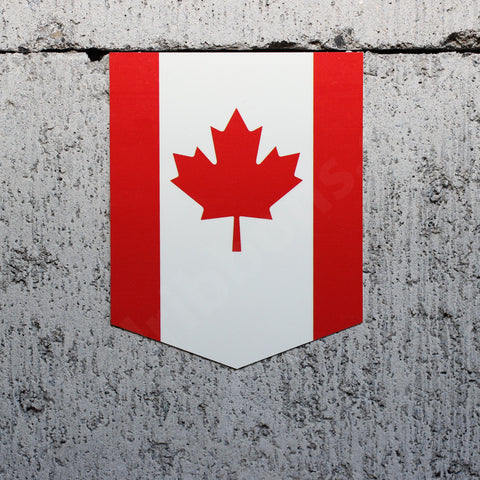 "Flag of Canada car sticker - 2"" x 2.5"""