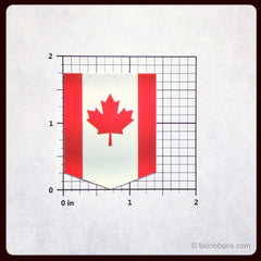 canada flag car sticker dimensions