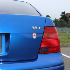 Canadian Flag car sticker on a VolksWagen Jetta