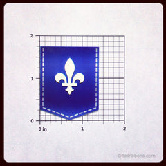 fleur-de-lis vinyl car sticker dimensions