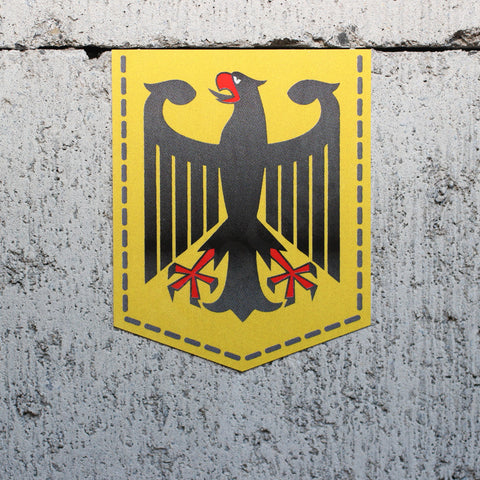 "Germany Coat of Arms car sticker - 2"" x 2.5"""