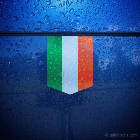 "Flag of Ireland car sticker - 1 3/8"" x 1 3/4"""