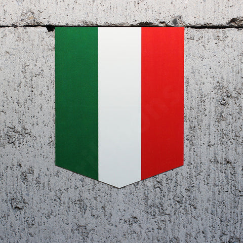 "Flag of Italy car sticker - 2"" x 2.5"""